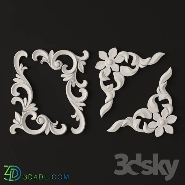 Decorative plaster - Decorative corner elements.