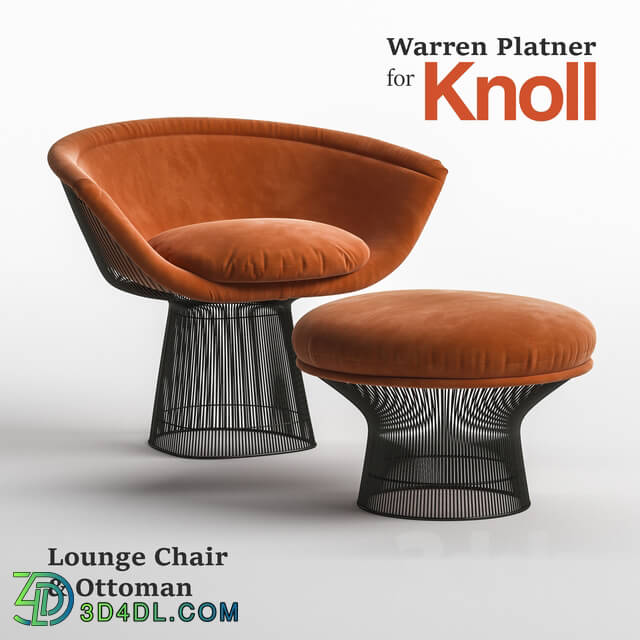 Arm chair - Warren Platner Lounge Chair _ Ottoman for Knoll