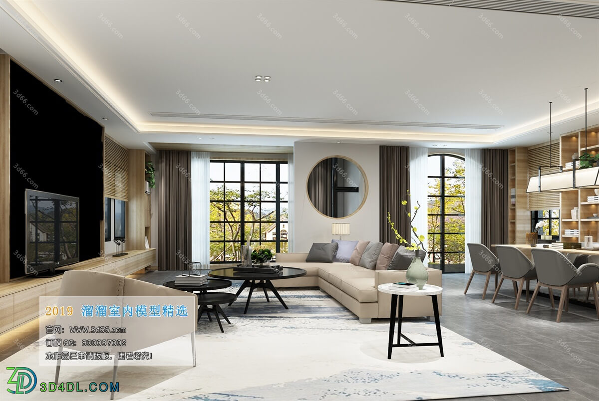 3D66 2019 Livingroom Chinese style (C096)