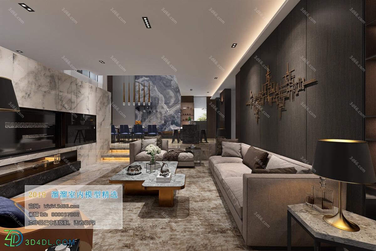 3D66 2019 Livingroom Modern style (A015)