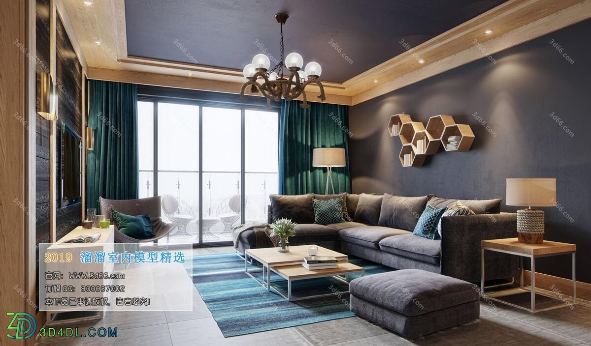 3D66 2019 Livingroom Nordic style (M011)