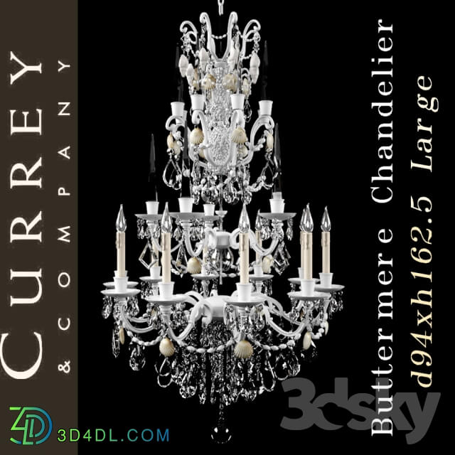 Ceiling light - Chandelier Currey company Buttermere Chandelier Large
