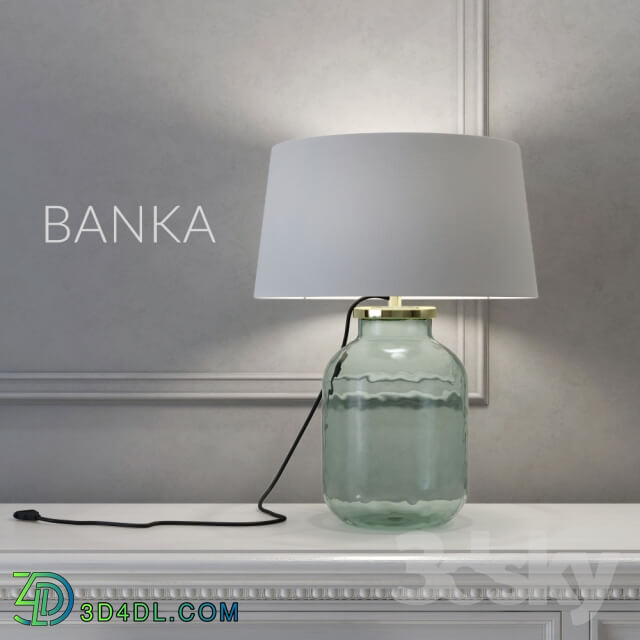 Table lamp - The lamp in the form of banks