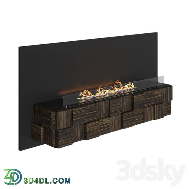 Fireplace - OM - Tetris Wall biofireplace