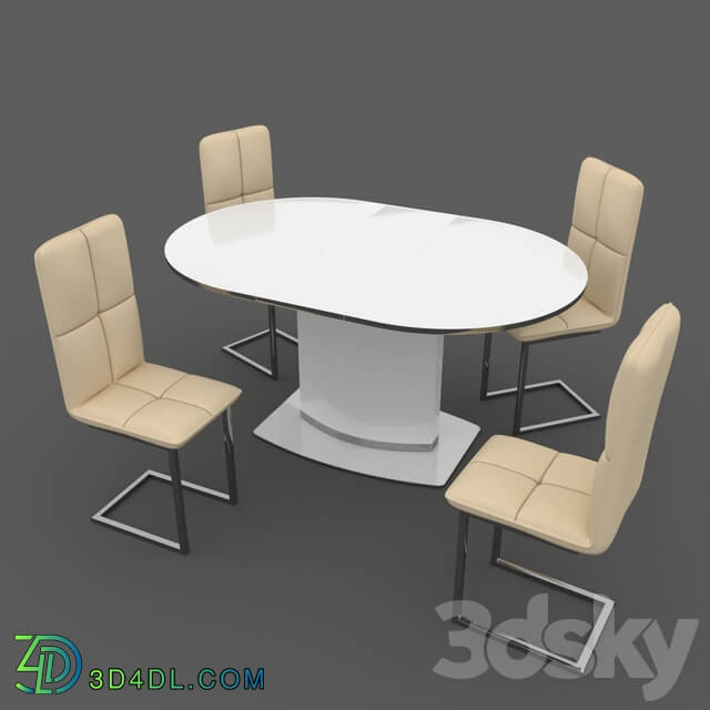 Table _ Chair - Dining table Halmar FEDERICO