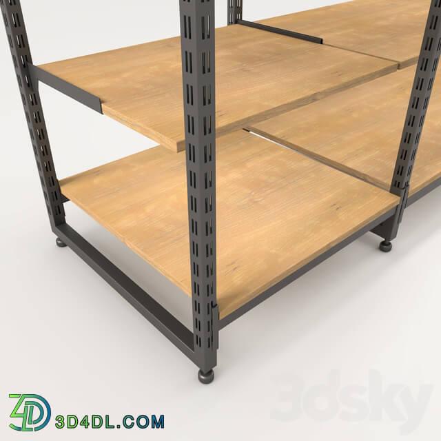 Rack - shelf for store design