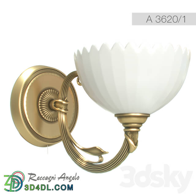 Wall light - Lamp_ Sconce Reccagni Angelo A 3620_1