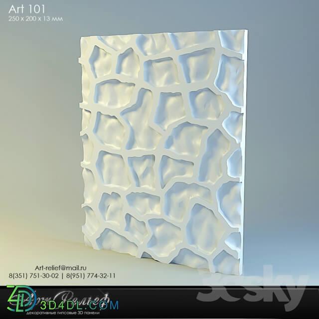 3D panel - 3d gypsum panel 101 from Art Relief