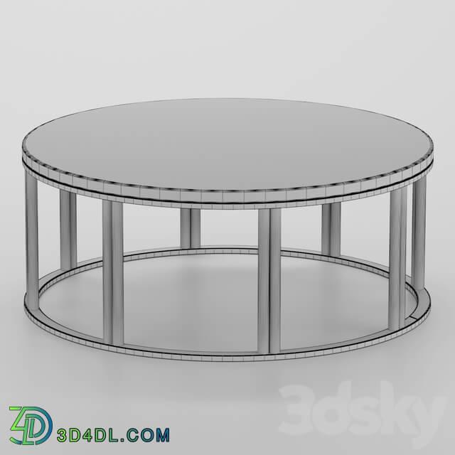 Table - Metal coffee table circle