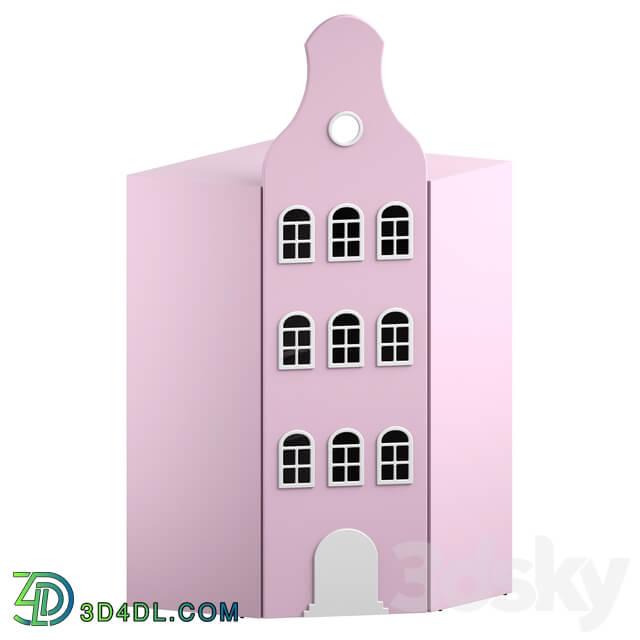 Wardrobe _ Display cabinets - Children_s Wardrobe-House Piepenburg S195 corner Sufix _OM_