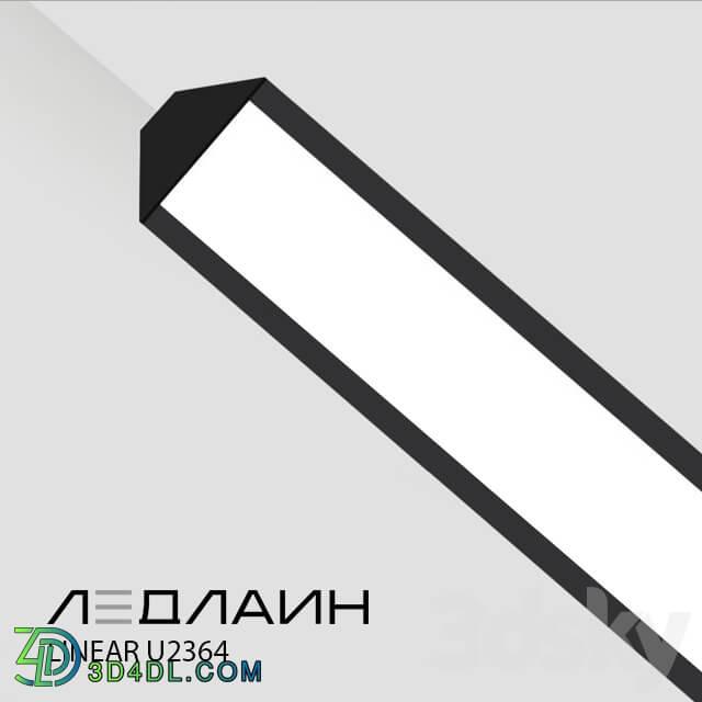 Technical lighting - Pendant Lamp Linear U2364 _ Ledline