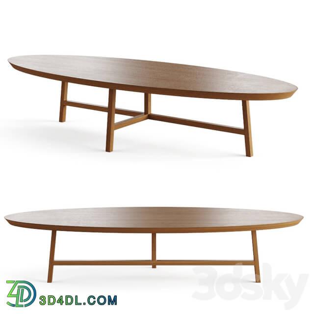 Table - 754o Trio oval coffee table by De La Espada