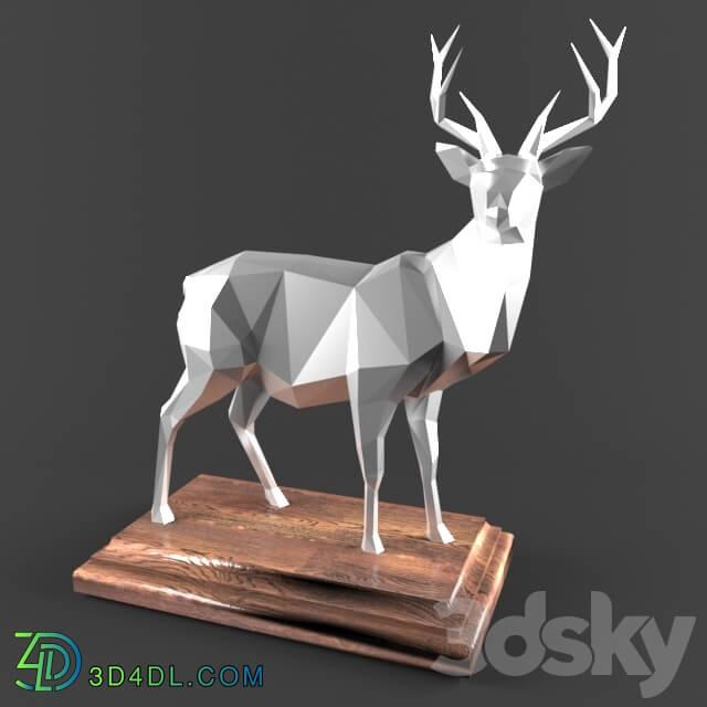 Sculpture - Deer _ Deer