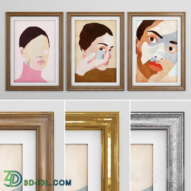 Frame - Frame Set 01 - Ines Longevial Paintings