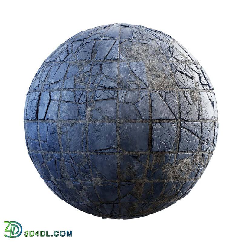CGaxis Textures Physical 3 Destruction damaged blue tiles 31 81