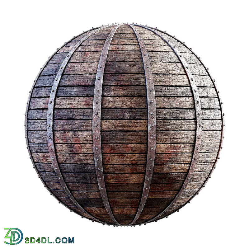 CGaxis Textures Physical 3 Medieval damaged reinforced wooden planks 29 64