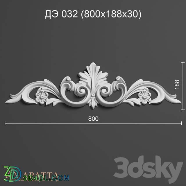 Decorative plaster - Aratta DE 032 _800x188x30_