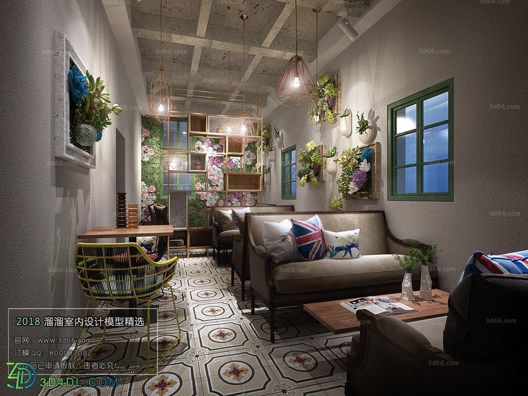 3D66 2018 Hotel & Teahouse & Cafe Industrial style H020