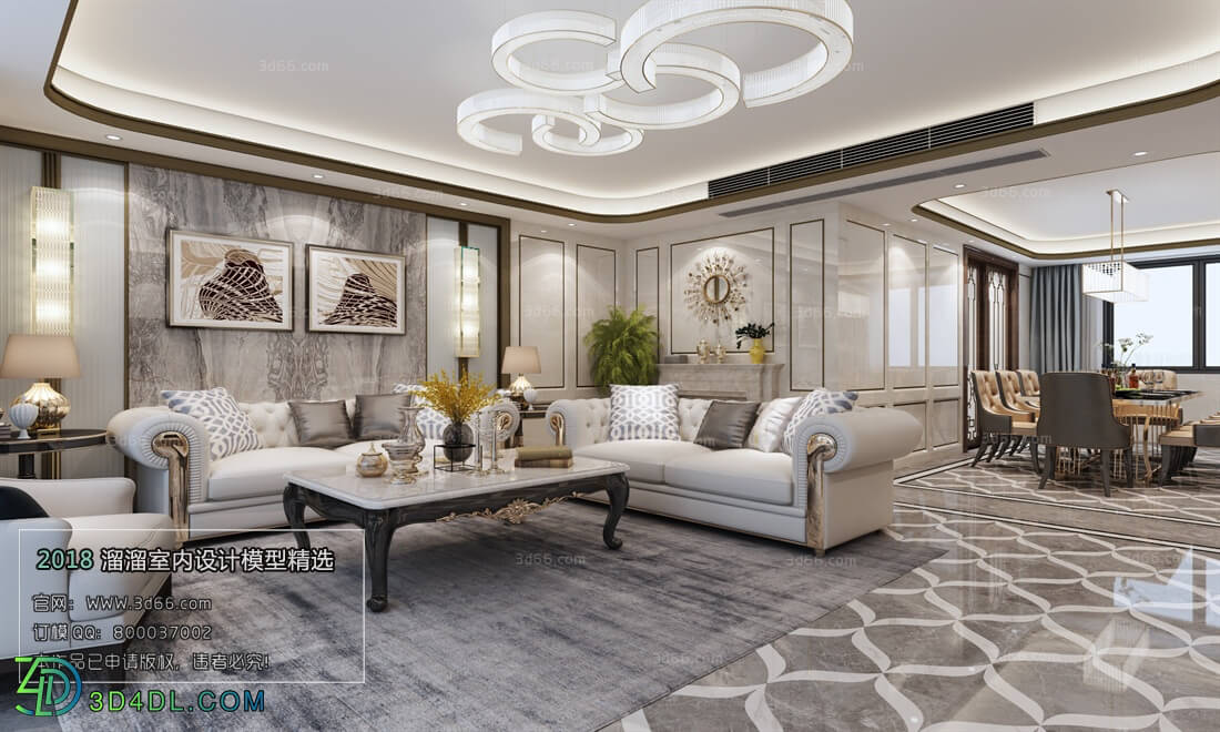 3D66 2018 Sitting room space Mix style J031