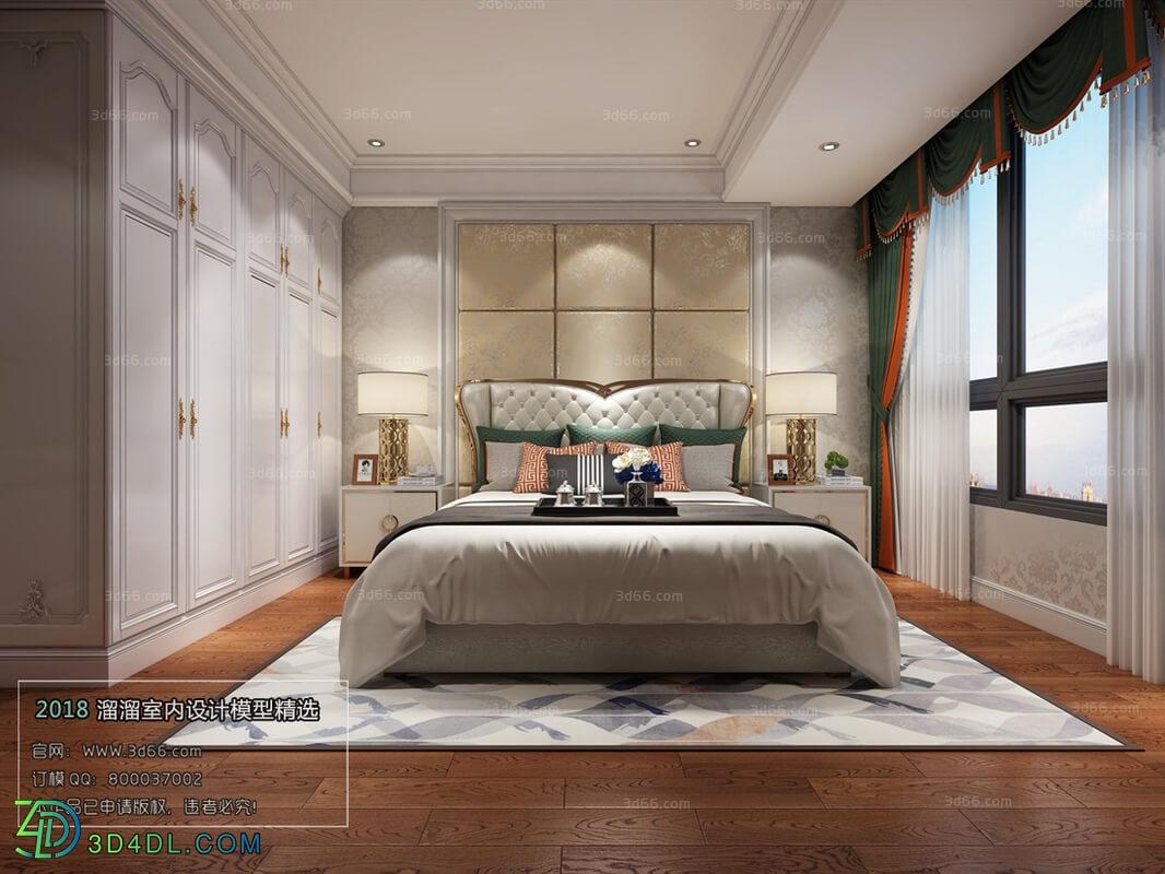 3D66 2018 bedroom European style D015