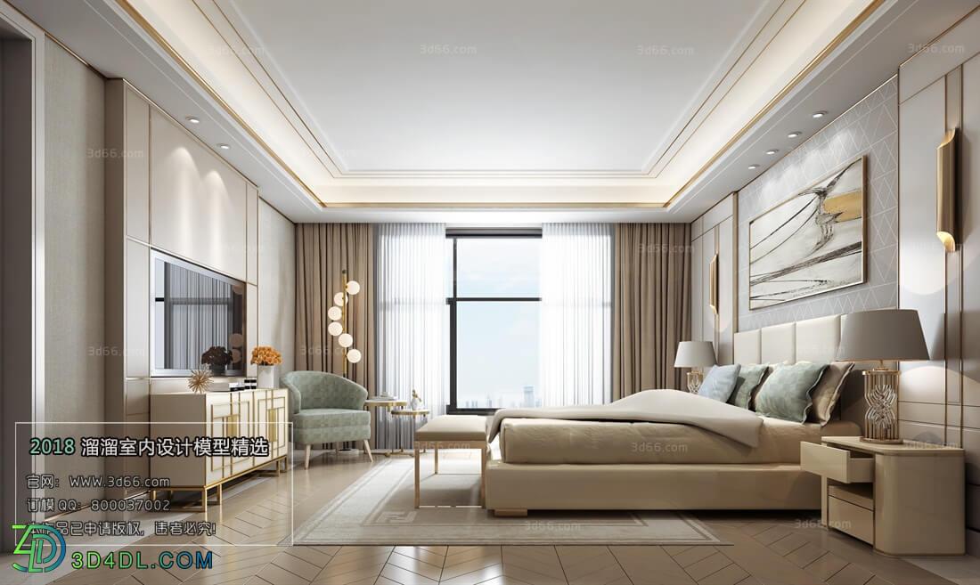 3D66 2018 bedroom Postmodern style B010