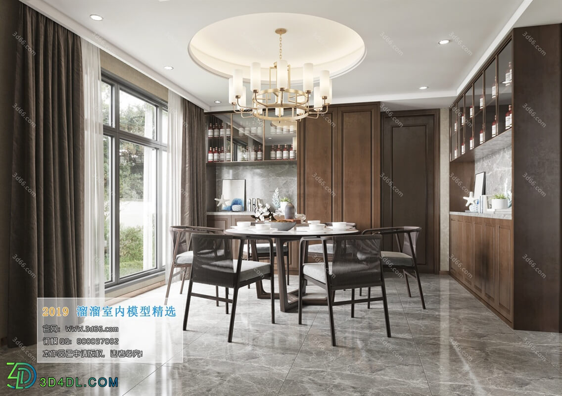 3D66 2019 Dining Room & Kitchen Chinese style C011