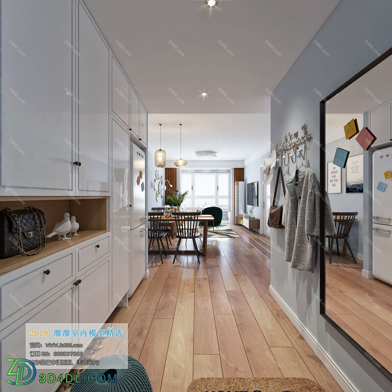 3D66 2019 Dining Room & Kitchen Nordic style M017