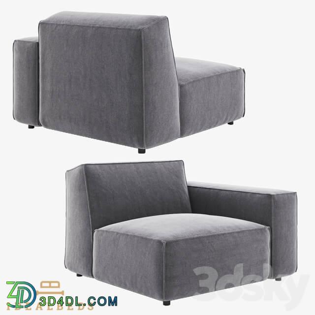 Arm chair - Om Como Modular Arm Chair Right