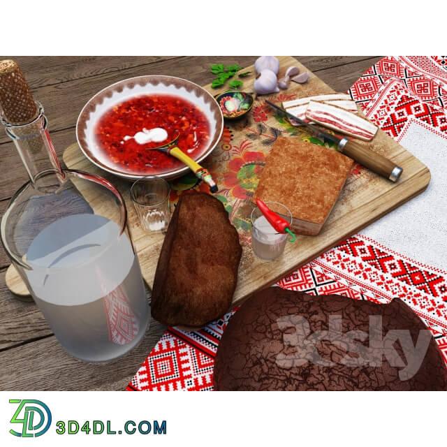 Food and drinks - Ukrainian food