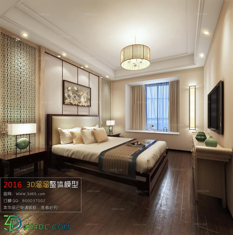 3D66 2016 Chinese Style Bedroom 1041 C010